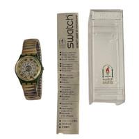 Swatch GG131 GG132S Green Shine Vintage Unisex Fashion Watch - instruction manual