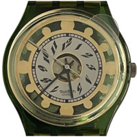 Swatch GG131 GG132S Green Shine Vintage Unisex Fashion Watch - face