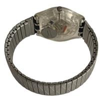 Swatch GK186 GK187 Silver Net Vintage Unisex Fashion Watch - back