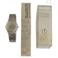 Swatch GK186 GK187 Silver Net Vintage Unisex Fashion Watch - instruction manual