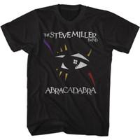 Steve Miller Band Abracadabra Album Cover Artwork Men's Unisex Black Vintage Fashion T-shirt