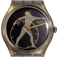 Swatch GK141 Discobolus Unisex Vintage Fashion Watch - face