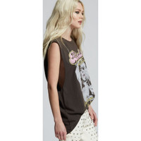Blondie Heart of Glass Live from New York City Women's Black Vintage Sleeveless Muscle Tank Top Fashion Concert T-shirt by Recycled Karma - right 2