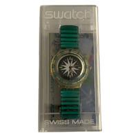 Swatch Scuba 200 SDK108 SDK109 Mint Drops Vintage Unisex Fashion Divers Watch - case
