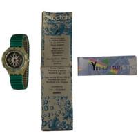 Swatch Scuba 200 SDK108 SDK109 Mint Drops Vintage Unisex Fashion Divers Watch - instruction manual & Swatch Club advert