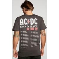 AC/DC ACDC Back in Black United Kingdom Tour 1980 Men's Black Vintage Fashion Concert T-shirt by Chaser - back