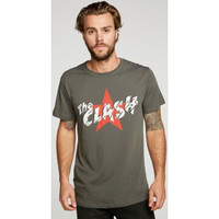 The Clash Military Star Logo Men's Green Vintage Fashion T-shirt by Chaser - front