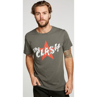 The Clash Military Star Logo Men's Green Vintage Fashion T-shirt by Chaser - front 2