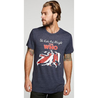 The Who The Kids are Alright Movie Poster and Soundtrack Album Cover Artwork Men's Blue Vintage Fashion T-shirt by Chaser - front