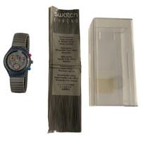 Swatch Chrono SCN110 Powersteel Unisex Vintage Fashion Watch - instruction manual