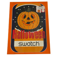 Swatch Loomi Limited Edition Halloween Pumpkin Puzzle Vintage Unisex Watch Gift Pack - box front