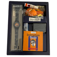 Swatch Loomi Limited Edition Halloween Pumpkin Puzzle Vintage Unisex Watch Gift Pack - box inside