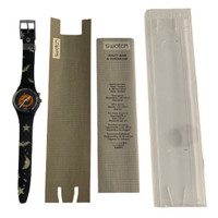 Swatch Loomi Limited Edition Halloween Pumpkin Puzzle Vintage Unisex Watch Gift Pack - watch instruction manual