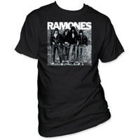 Ramones Debut Album Cover Artwork Men's Black T-shirt