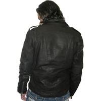 Indian Motorcycle Ranger Biker Black Leather Jacket - back