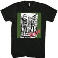 The Clash Debut Album Cover Animated Artwork Men's Black T-shirt