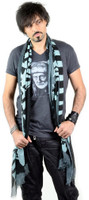 Corello Dead Horse Logo Scarf - in blue and black