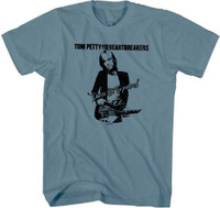 Tom Petty and the Heartbreakers Damn the Torpedoes Album Cover Artwork Men's Blue T-shirt