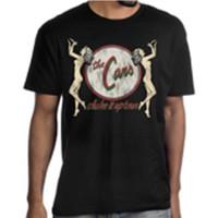 The Cars Shake It Up Tour Men's Unisex Black Vintage Fashion Concert T-shirt - model