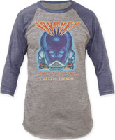 Journey Frontiers Tour 1983 Vintage Gray and Blue Concert Baseball Jersey T-shirt