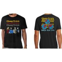 Cheap Trick World Tour 1978 Men's Unisex Black Vintage Fashion Concert T-shirt - model