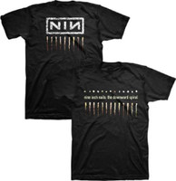 Nine Inch Nail The Downward Spiral Album Artwork and NIN Logo Men's Black T-shirt