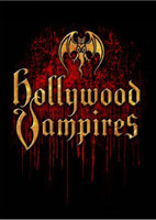Hollywood Vampires Supergroup Logo and Debut Album Cover Artwork Men's Black T-shirt - Graphics Close Up