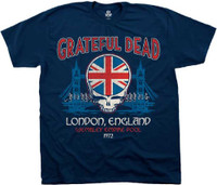 Grateful Dead Wembley Empire Pool London, England 1972 Men's Blue Vintage Concert T-shirt