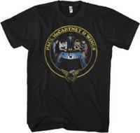 Paul McCartney and Wings Back to the Egg Album Cover Artwork Men's Black Vintage T-shirt