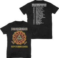 Soundgarden Superunknown Tour 1994 Men's Unisex Black Vintage Concert T-shirt