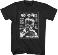 Foo Fighters Halloween Friday October 31, 2014 Ryman Auditorium Nashville, TN Concert Promotional Poster Artwork Men's Black T-shirt