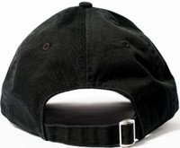 Iron Maiden Logo Black Baseball Cap with Eddie the Head Buttons - Back