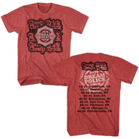 Cheap Trick 1979 Dream Police Tour Men's Unisex Red Vintage Fashion Concert T-shirt