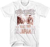 1186f4cb90e Aerosmith Vintage Concert T-shirt - Rocks Tour Japan 1977