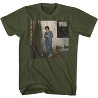 Billy Joel 52nd Street Album Cover Artwork Men's Unisex Olive Green Fashion T-shirt