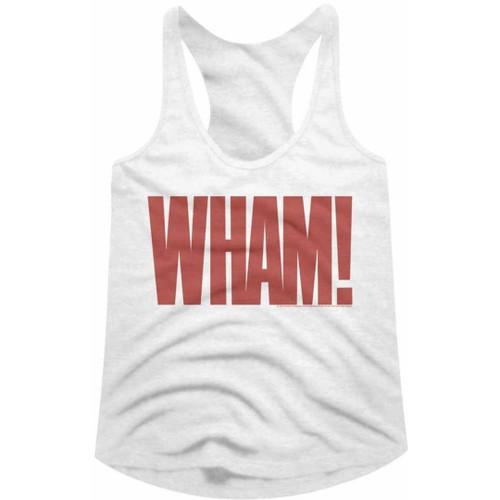 Wham! Logo Women's White Vintage Fashion Racerback Tank Top T-shirt