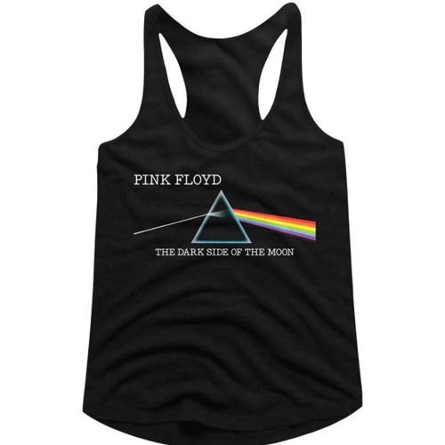 Pink Floyd The Dark Side of the Moon Women's Black Racerback Tank Top Fashion T-shirt