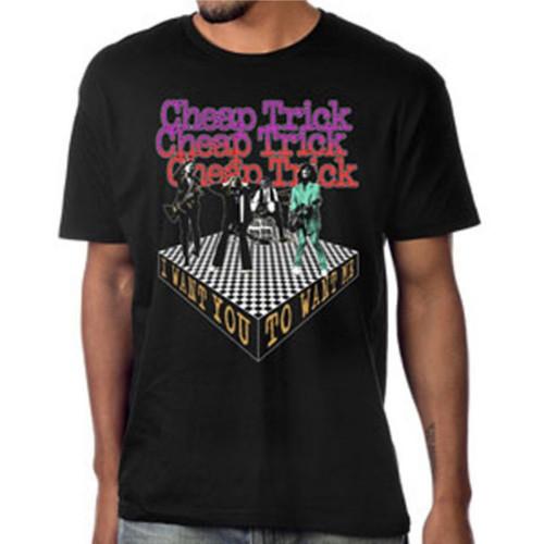 Cheap Trick I Want You to Want Me Men's Unisex Black Fashion T-shirt - model
