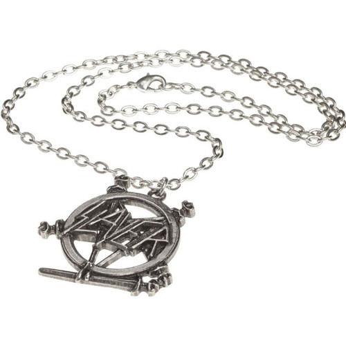 Slayer Pentagram Logo Pewter Chain Necklace by Alchemy of England