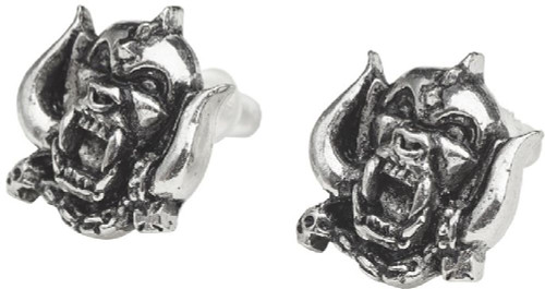 Motorhead Snaggletooth War Pig Logo Earrings