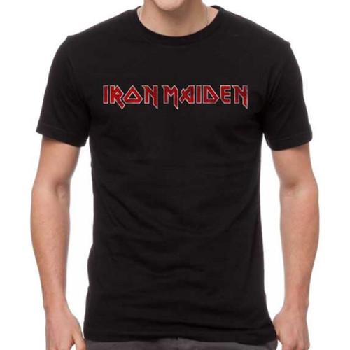 Iron Maiden Logo Men's Unisex Black Vintage Fashion T-shirt
