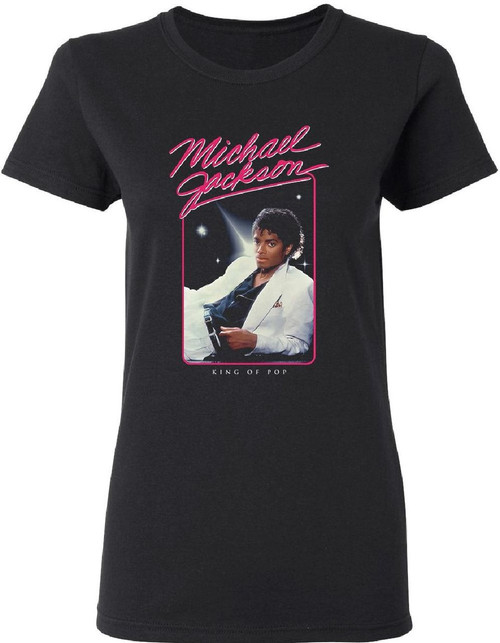 Michael Jackson Thriller Women's Black T-shirt