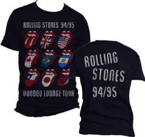 Rolling Stones Voodoo Lounge Tour 1994-1995 Men's Black Vintage Concert T-shirt