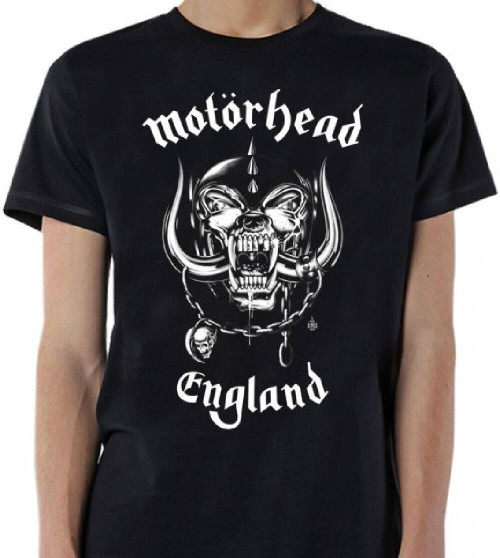 Motorhead England Snaggletooth War Pig Logo Men's Black T-shirt