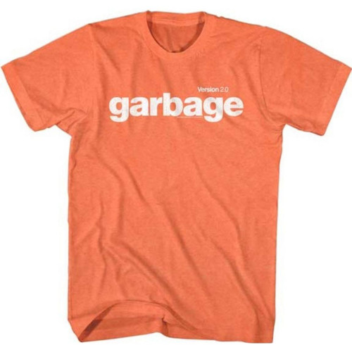 Garbage Alternative Rock Band Version 2.0 Album Cover Artwork Men's Unisex Orange Vintage Fashion T-shirt