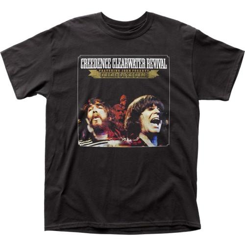 Creedence Clearwater Revival CCR Chronicle Vol. 1 Album Cover Artwork Men's Unisex Black Fashion T-shirt