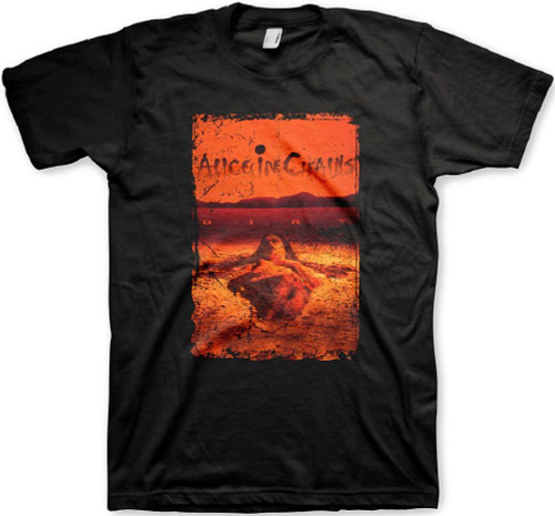 Alice in Chains Dirt Album Cover Artwork Men's Black Vintage T-shirt