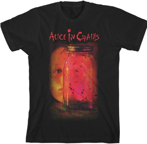 Alice in Chains Jar of Flies Album Cover Artwork Men's Black Vintage T-shirt
