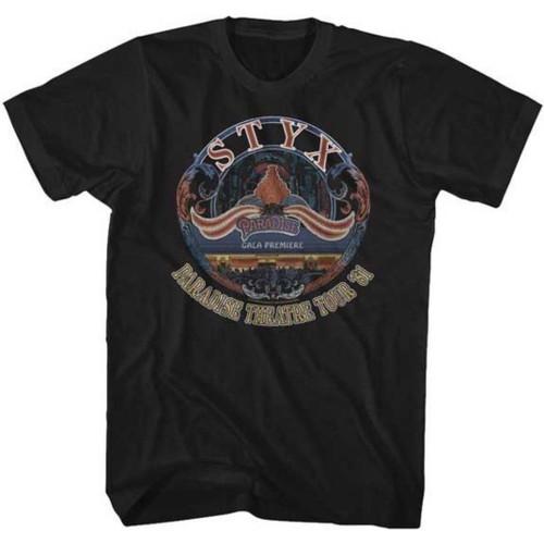 Styx Paradise Theatre Tour 1981 Men's Unisex Black Vintage Fashion Concert T-shirt
