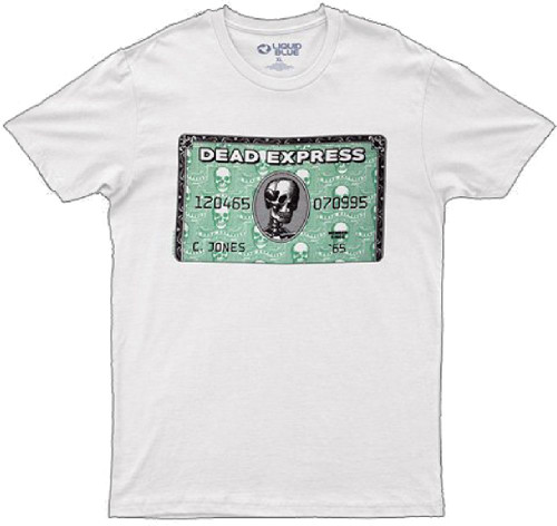 Grateful Dead Dead Express Credit Card Logo Men's White T-shirt